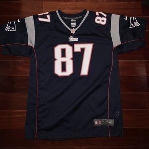 NFL Patriots Gronkowski 87 Football Jersey